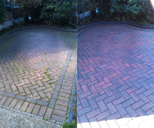 Block Paving Before and After Pressure Washing