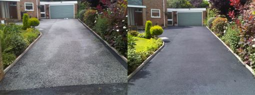 Tarmac Before and After Pressure Washing