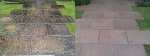 Slabs Before and After Pressure Washing
